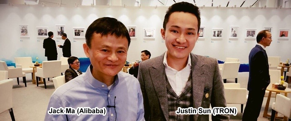 Jack Ma (Alibaba) und Justin Sun (TRON)