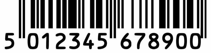 Haftpapier-Aufkleber Beispiel Barcode