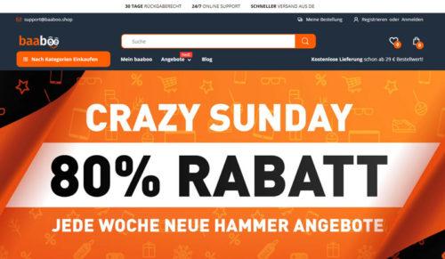 Baaboo.Shop mit Crazy Sunday Rabatt