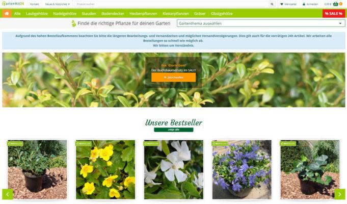 Gartenhit24.de Pflanzen Versand