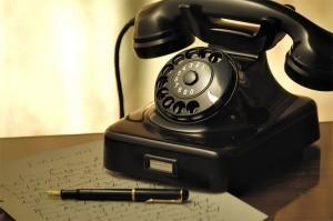 altes schnurgebundenes Telefon