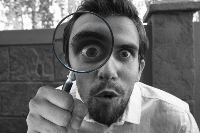 magnifying   e