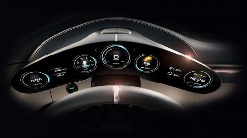 Porsche Mission E digitale Instrumententafel