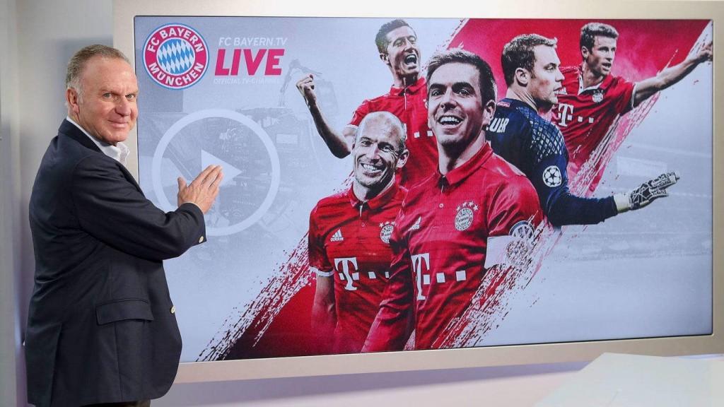 Karl-Heinz Rummenigge startet Bayern.tv live
